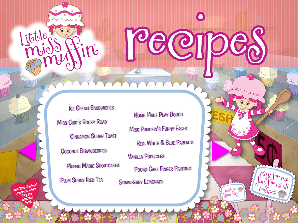 Little Miss Muffin Dolls Recipes List