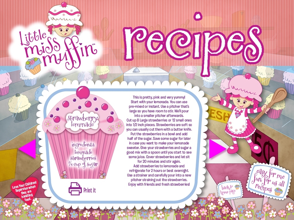 Little Miss Muffin Dolls Strawberry Lemonade Recipe